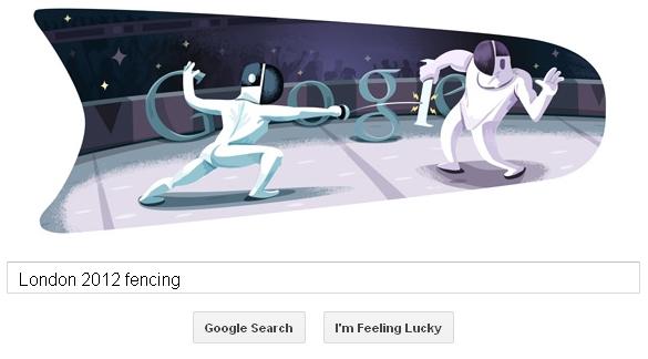 google doodle - fencing