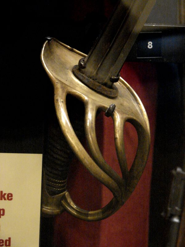 French Dragoon Sabre Hilt, Model 1882. National WWI Museum, Kansas City, MO.
