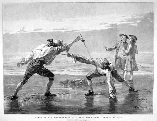 A Duel with Small Swords in 1760 by Percy MacQuoid, R.I., February 6, 1897