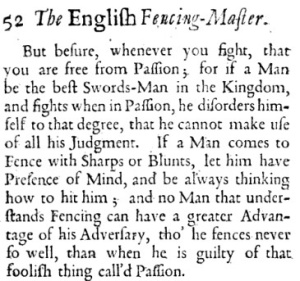Blackwell, The Fencing-master, 1702