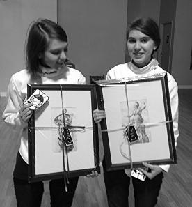 Clara, Ella with Engravings