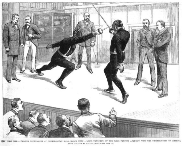 Tronchet vs. Senac, in Frank Leslie's Illustrated Newspaper